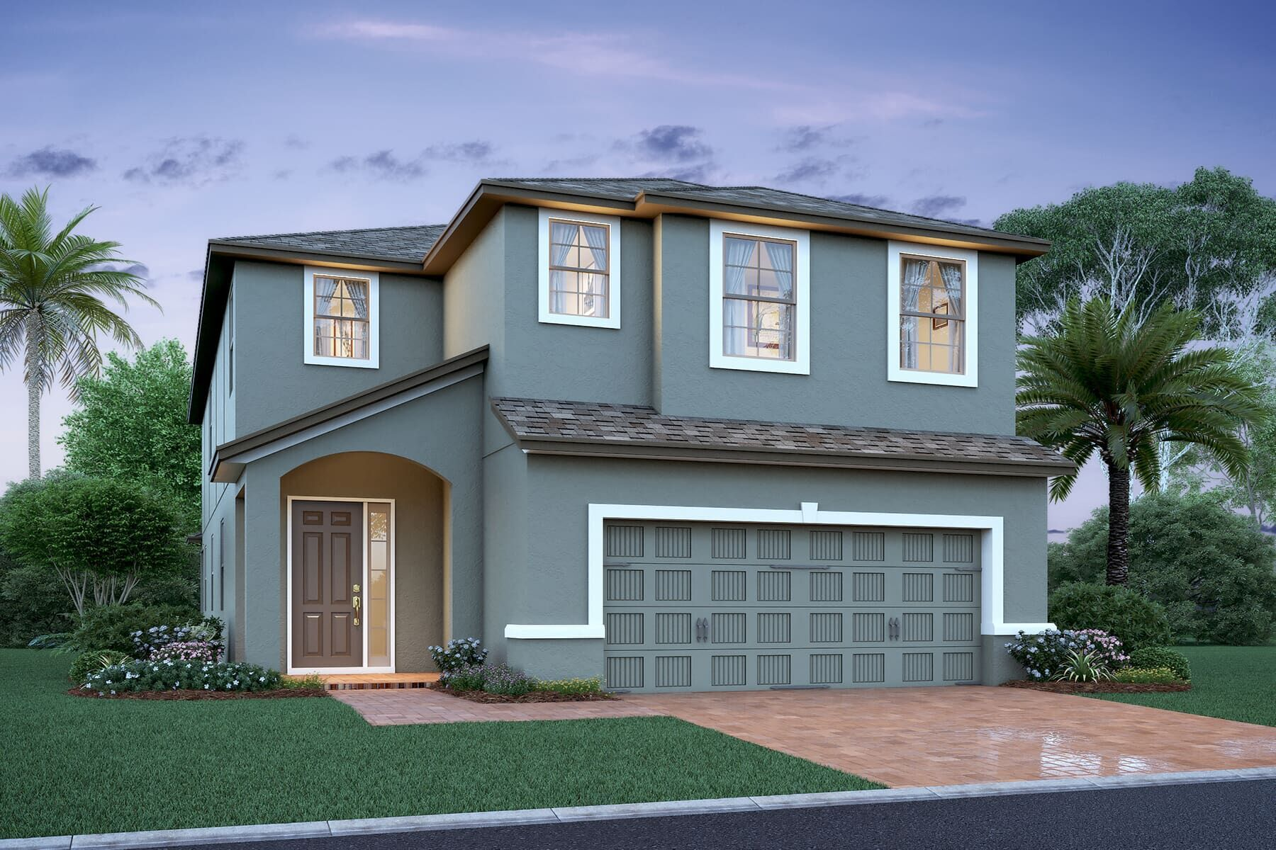 Exterior featured in the Halifax By M/I Homes in Orlando, FL
