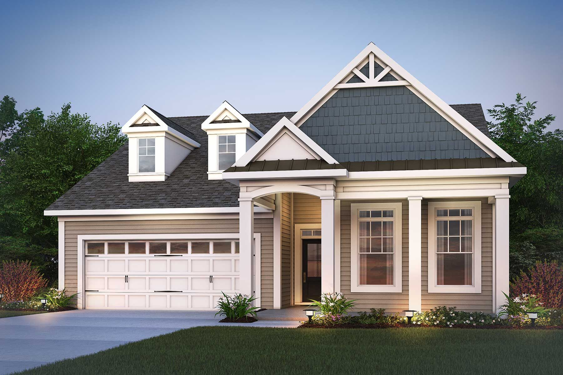 Exterior featured in the Villa Magnolia  III By M/I Homes in Raleigh-Durham-Chapel Hill, NC