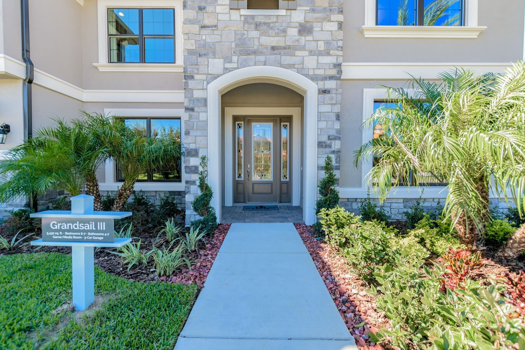 Exterior featured in the Grandsail  III By M/I Homes in Tampa-St. Petersburg, FL