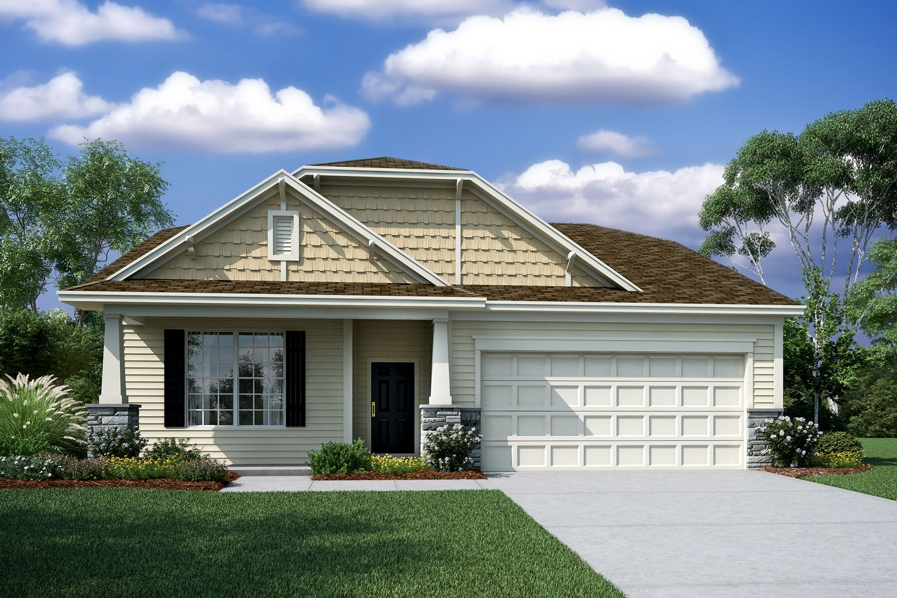 Exterior featured in the Ashwood By M/I Homes in Charlotte, NC