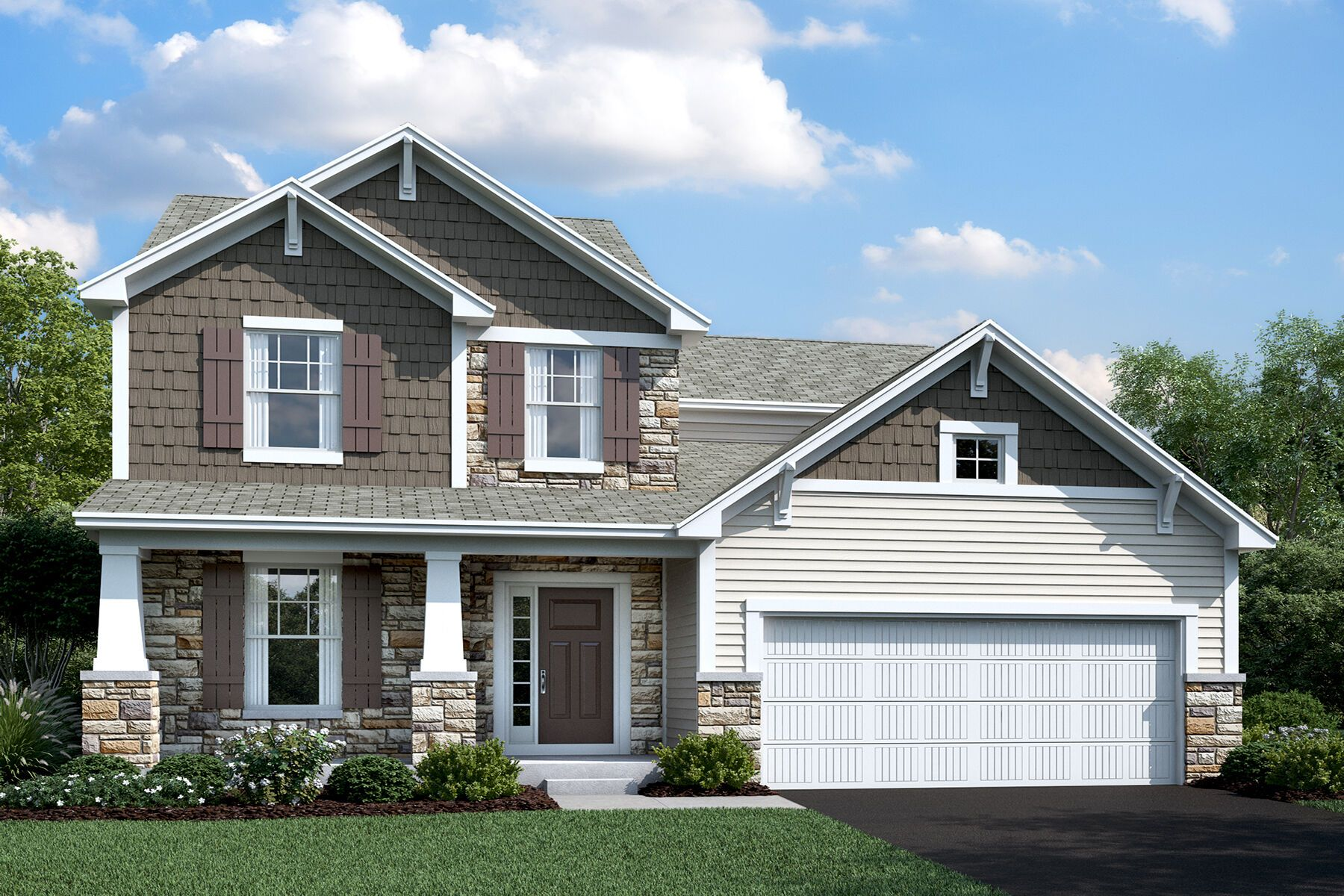 Exterior featured in the Erie By M/I Homes in Columbus, OH