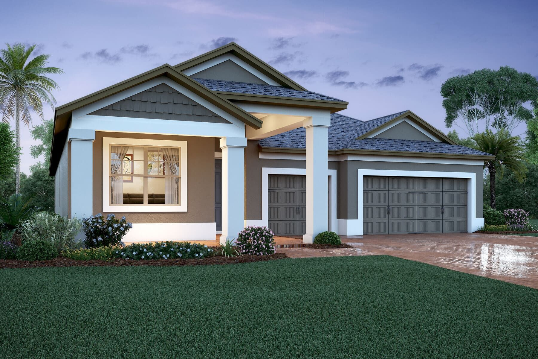 Exterior featured in the Corina II By M/I Homes in Orlando, FL
