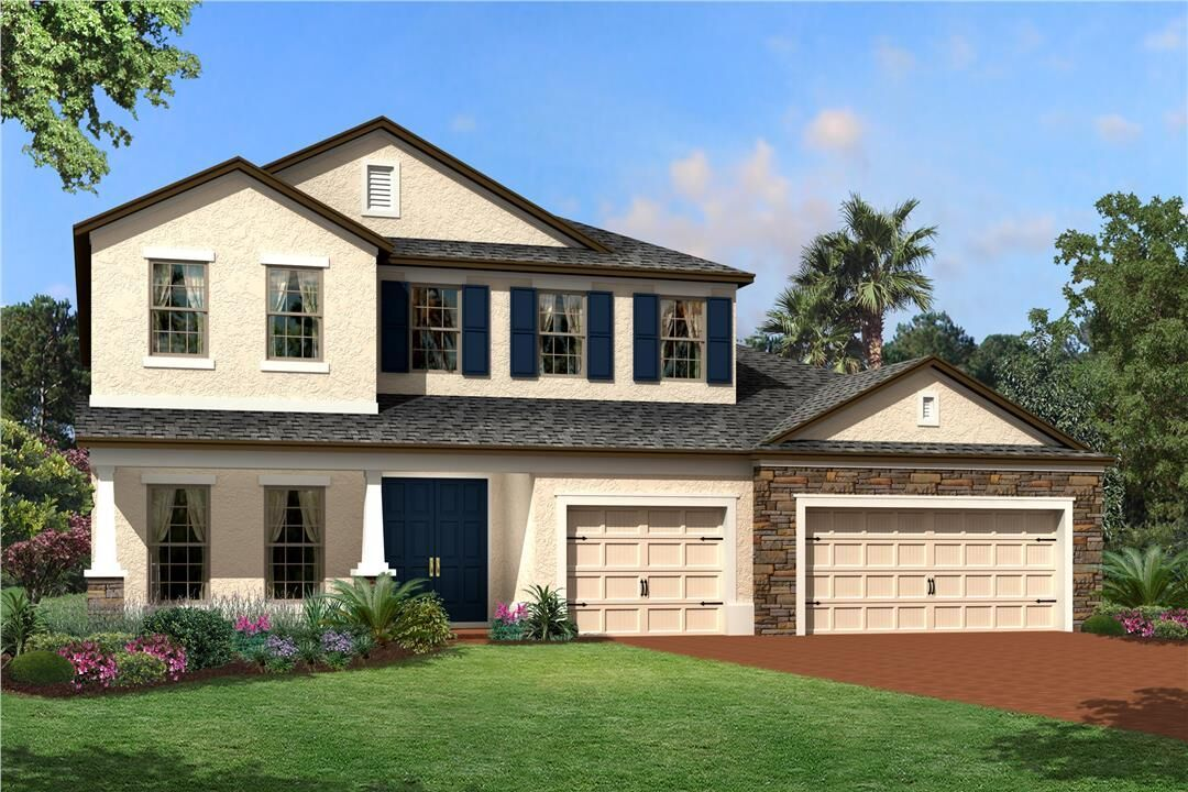 Exterior featured in the Tradewinds Fl By M/I Homes in Orlando, FL