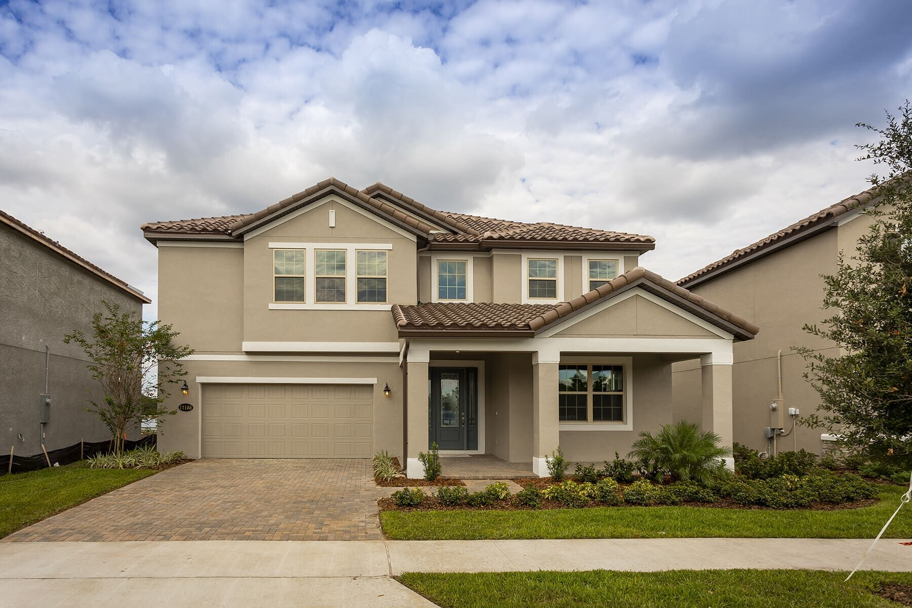 Exterior featured in the Glenwood By M/I Homes in Orlando, FL