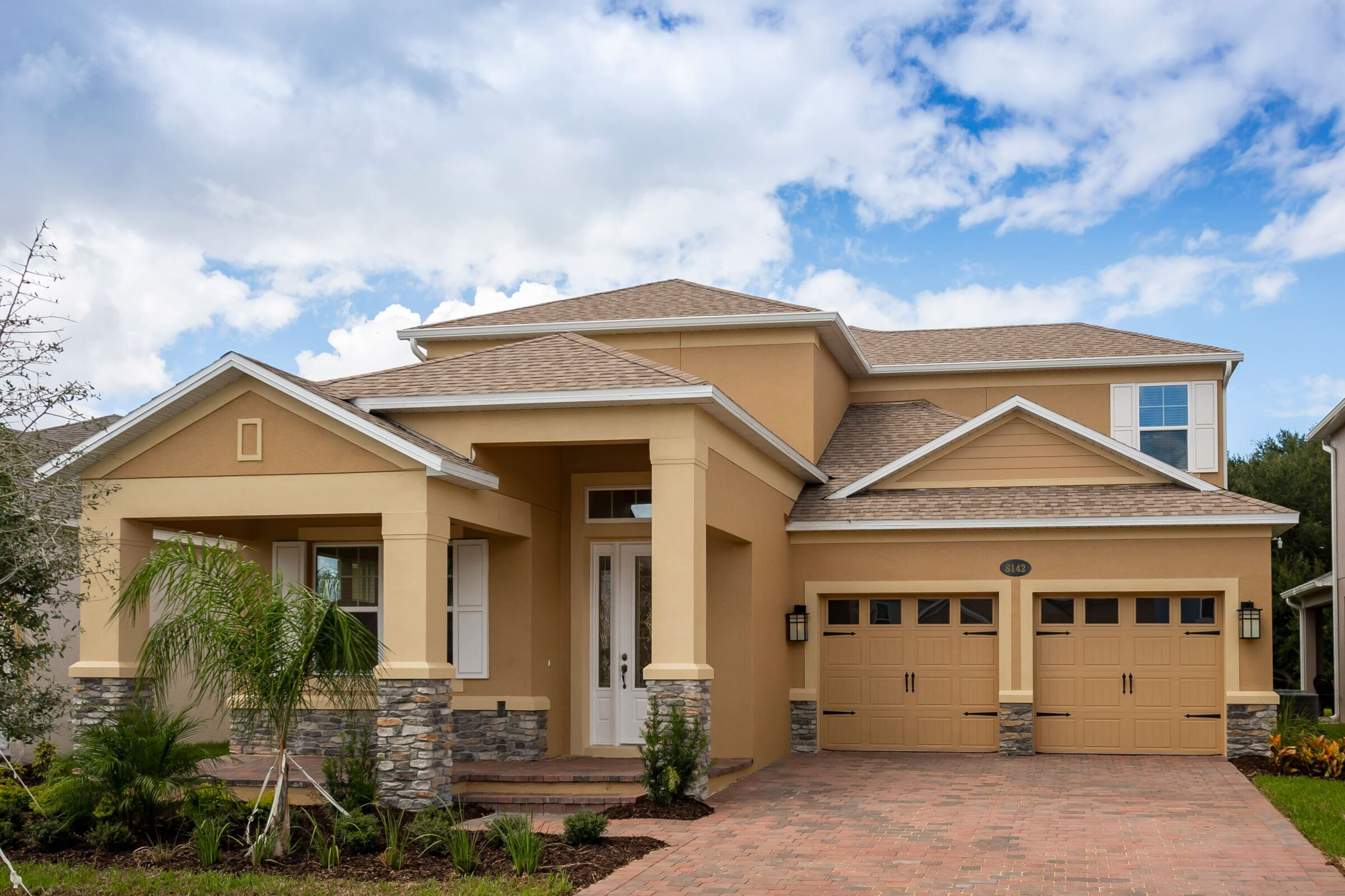 Exterior featured in the Dorchester By M/I Homes in Orlando, FL