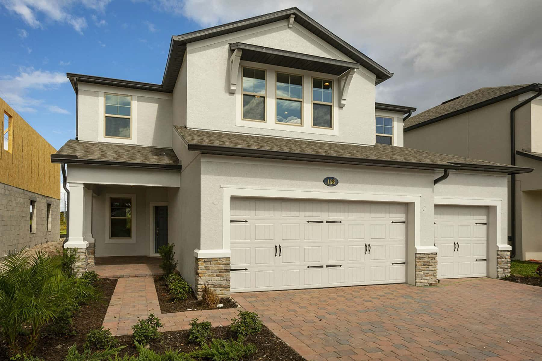 Exterior featured in the Lancaster By M/I Homes in Orlando, FL