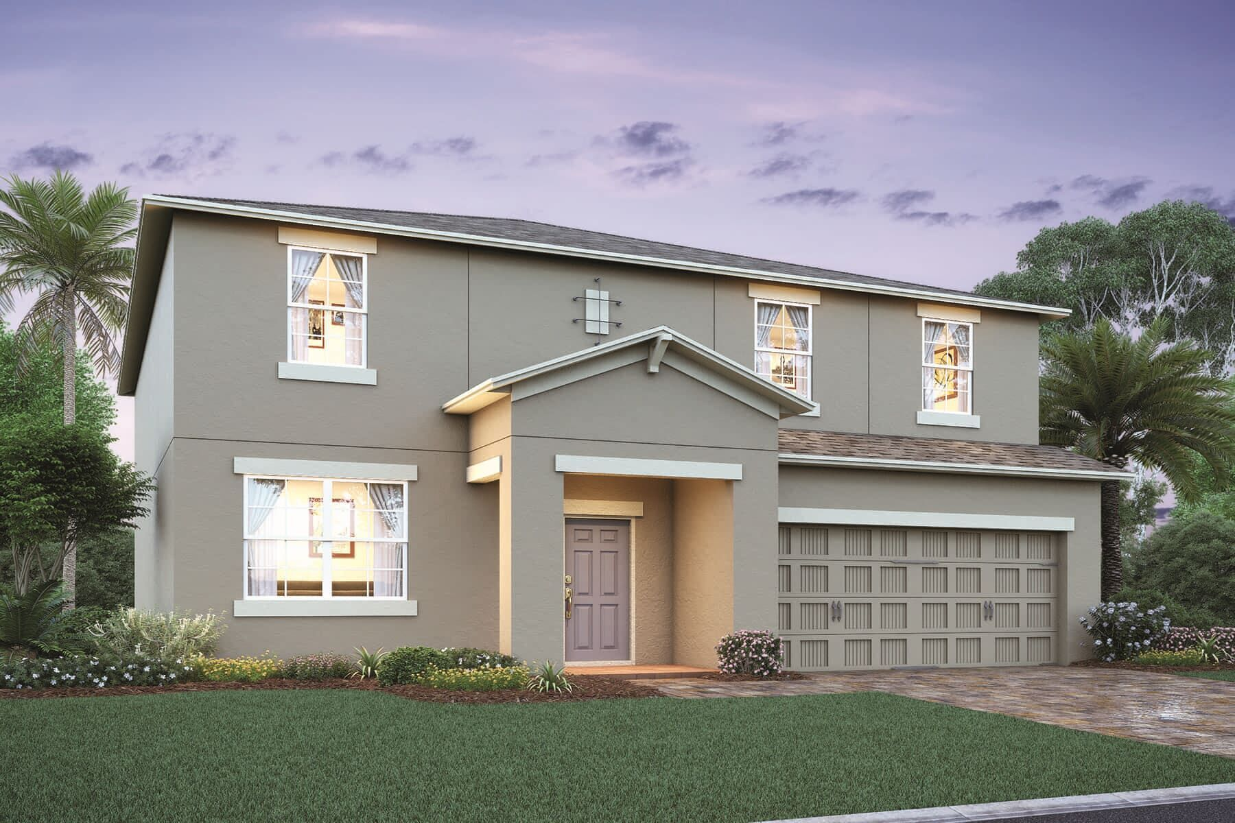 Exterior featured in the Solaire By M/I Homes in Orlando, FL