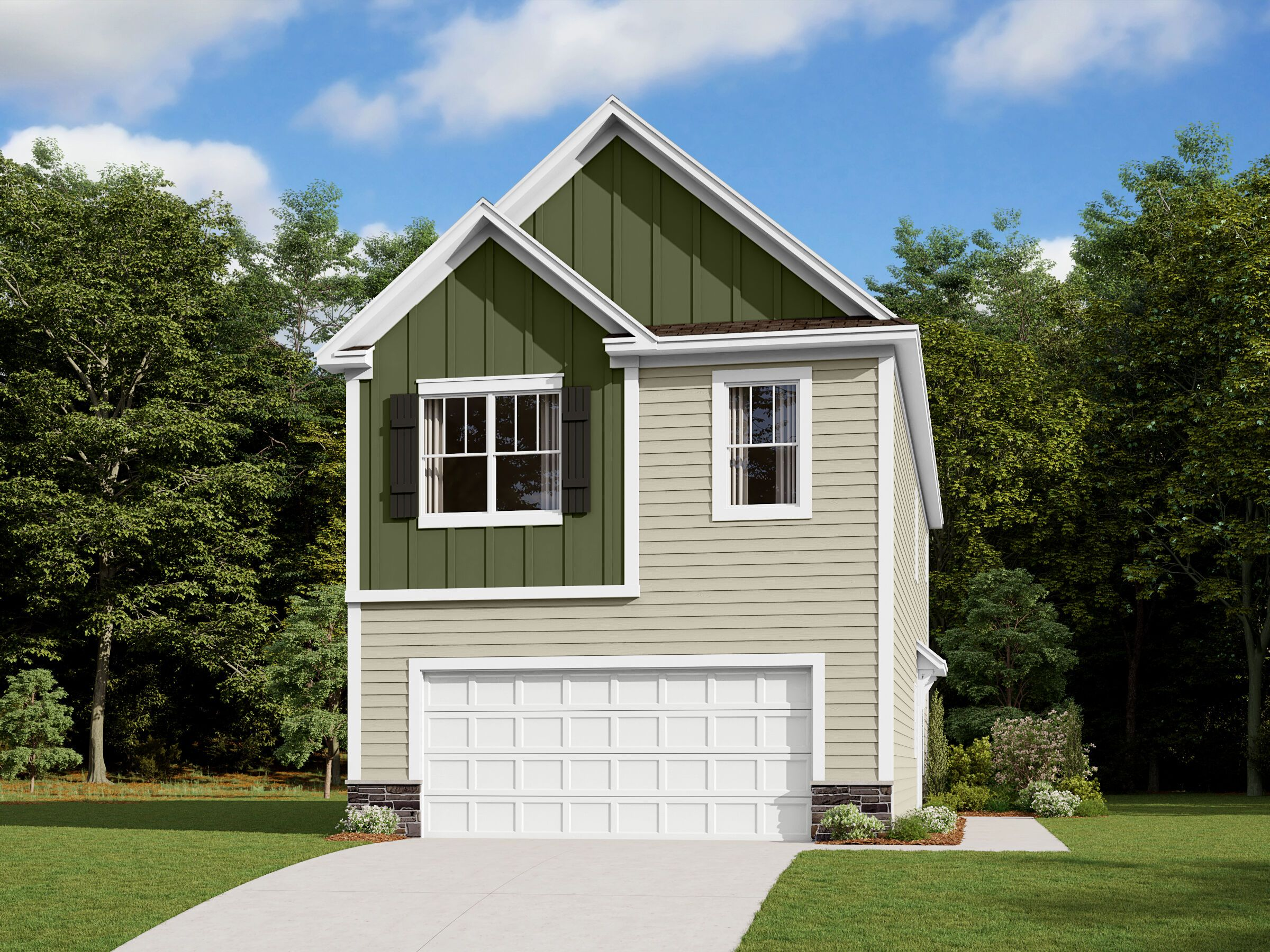 Exterior featured in the Catawba By M/I Homes in Charlotte, NC