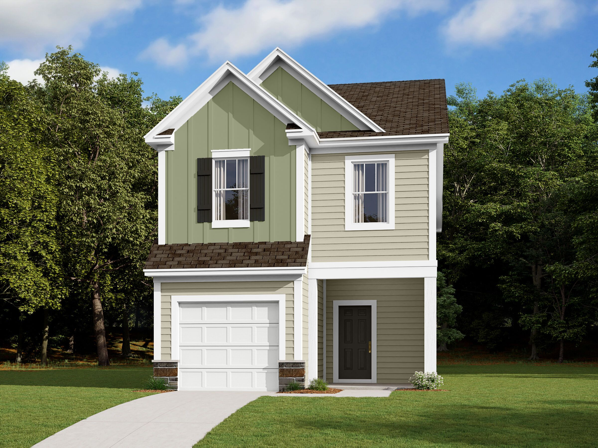 Exterior featured in the Manchester By M/I Homes in Charlotte, NC