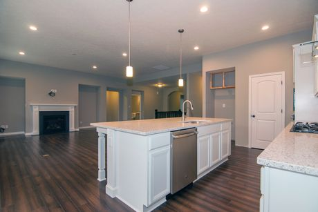Kitchen-in-Serenity Basement-at-The Estates at Harrison Crossing-in-Greenwood