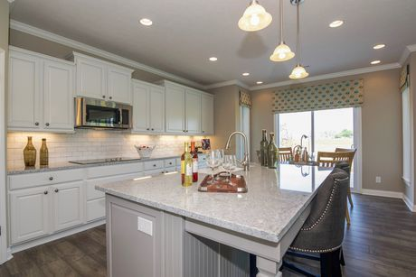 Kitchen-in-Clayton II Slab-at-Glenmore at Saddle Club-in-Bargersville