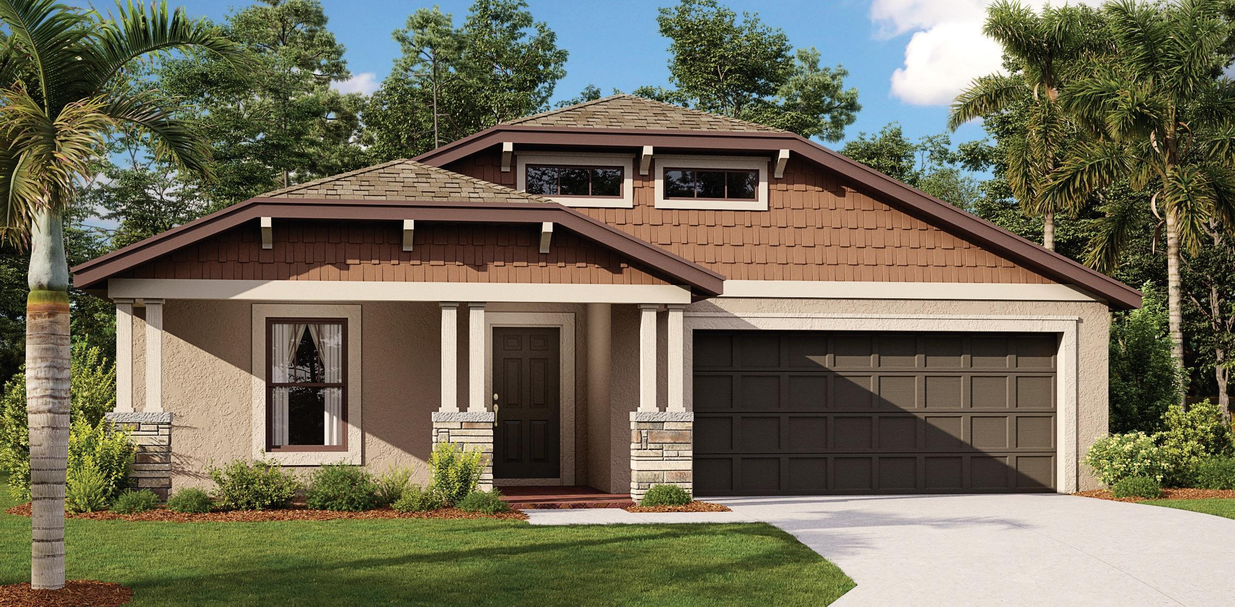 Exterior featured in the Oakwood By Mobley Homes in Tampa-St. Petersburg, FL