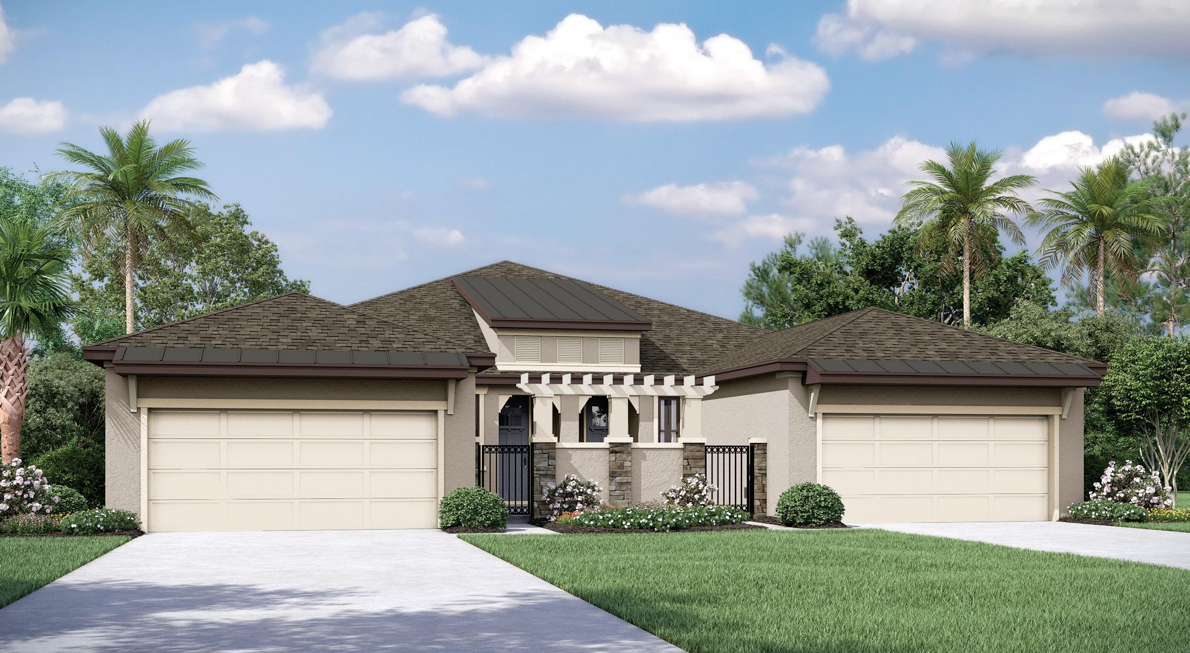 Exterior featured in the Capri Del Lago By Mobley Homes in Tampa-St. Petersburg, FL