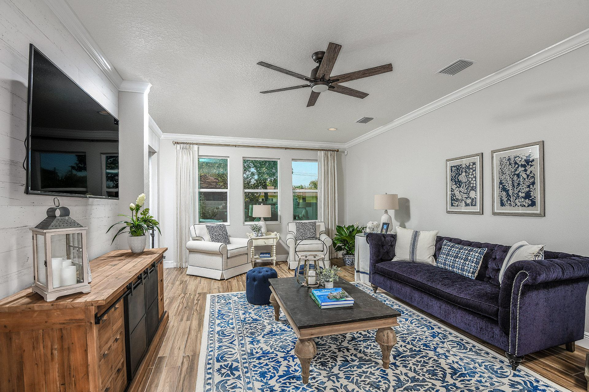 Living Area featured in the Capri Del Lago By Mobley Homes in Tampa-St. Petersburg, FL