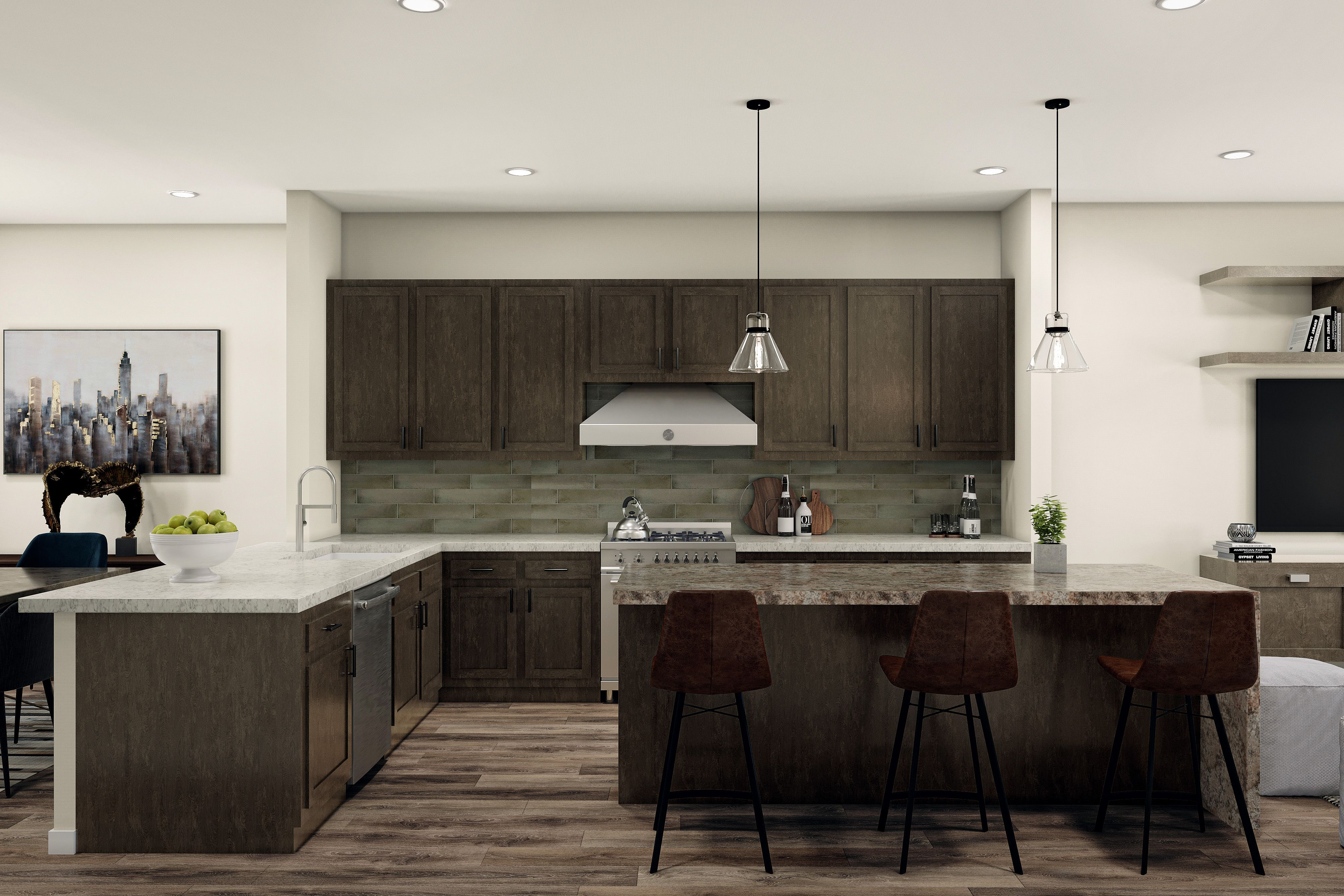 Kitchen featured in the Plan C By Madrid Builders in Los Angeles, CA