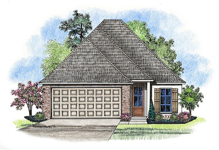 The Willow Elevation:Elevation of the Willow in the Magnolia Springs neighborhood