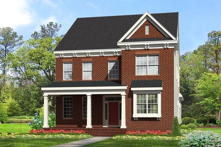 The Randolph Brick 'A' Elevation