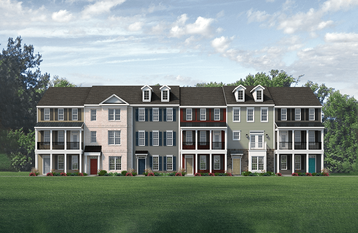 'Cosby Village 3-Story Townhomes' by Main Street Homes in Richmond-Petersburg