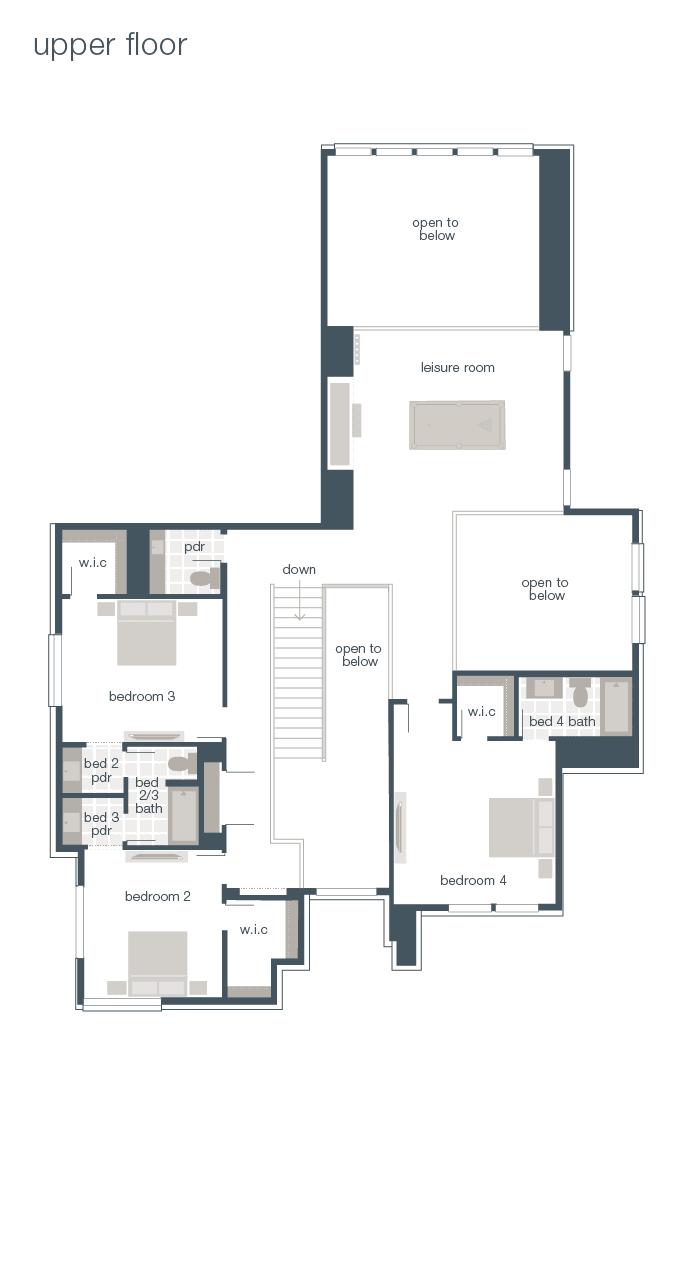 Upper Floor Plan - Brighton Q3