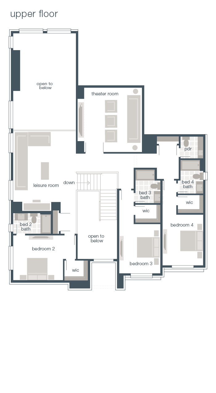 Upper Floor Plan - Vienna Q2-2