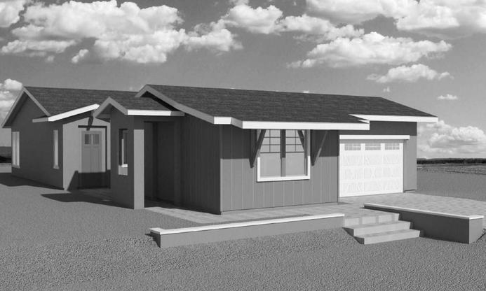 Star Gazer Modern Ranch:Elevation