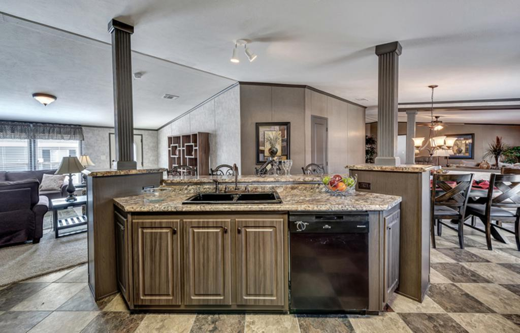 Kitchen featured in The El Jefe By Manufactured Housing Consultan in Corpus Christi, TX
