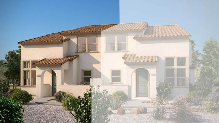 Exterior:Rendering | Building 4 - Spanish Elevation
