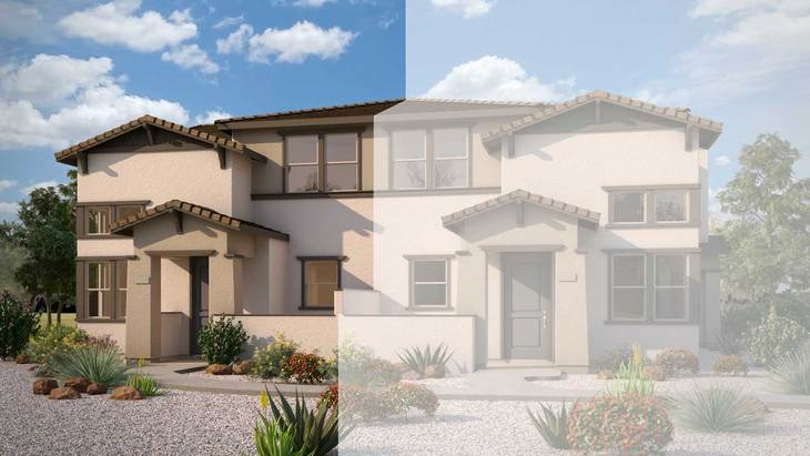 Exterior:Craftsman Elevation Rendering