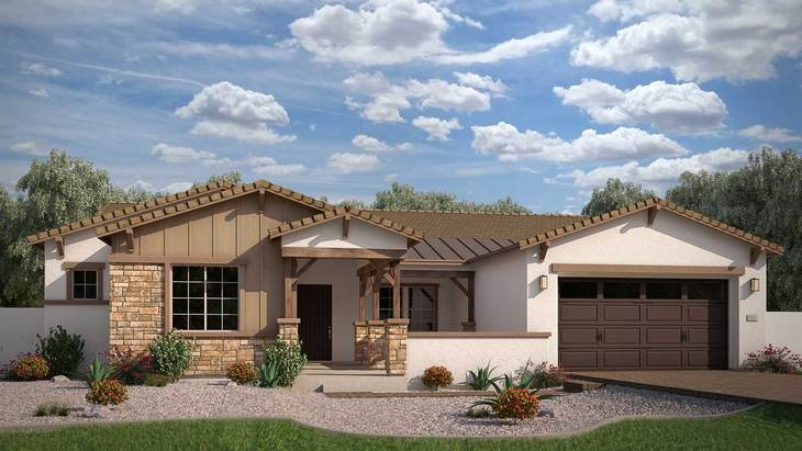 Exterior:Rendering | Elevation C - Agrarian Ranch