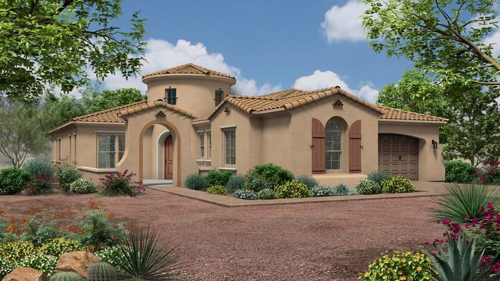 Exterior:Spanish Colonial Elevation