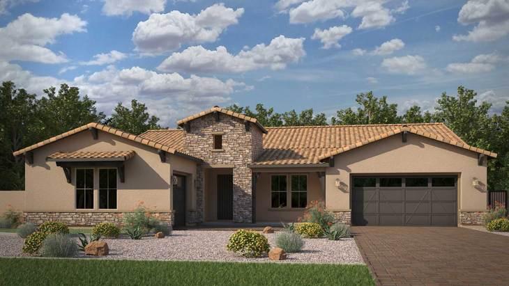 Exterior:Rendering | Elevation B - Ranch Hacienda