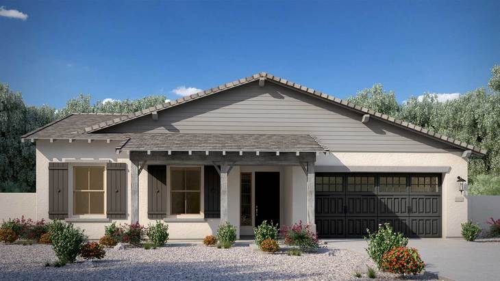 Exterior:Ranch Elevation Rendering