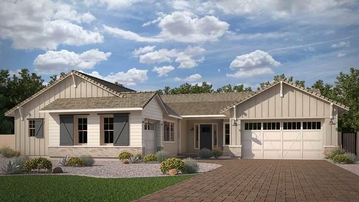 Exterior:Rendering | Elevation D - Farmhouse