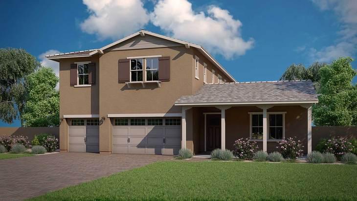 Exterior:Homesteader Floor Plan | Ranch Elevation