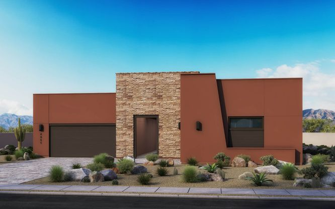 Exterior:Desert Modern Elevation Rendering