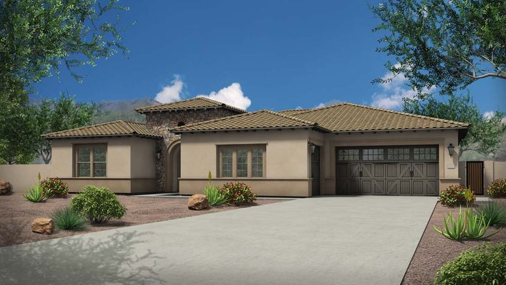 Exterior:Rendering | Elevation B - Tuscan