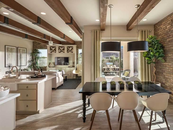 Centennial Model   Living Room and Dining Room