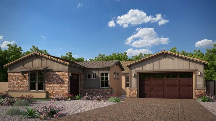 Exterior:Rendering   Elevation C - Agrarian Ranch
