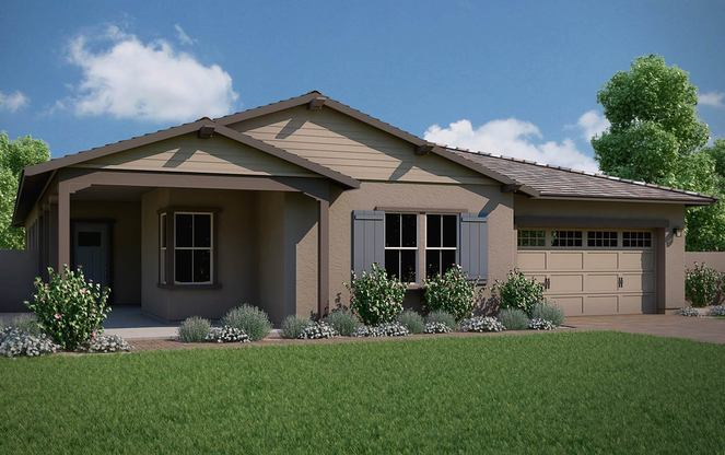 Exterior:Gardener Floor Plan | Ranch Elevation