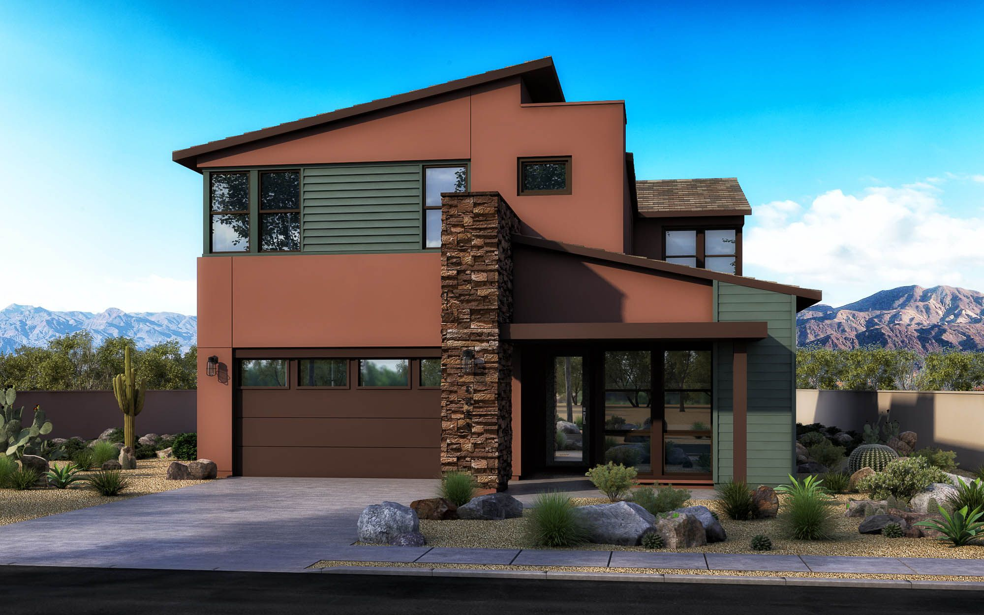 Exterior featured in the Loma Plan 3 By Maracay Homes in Phoenix-Mesa, AZ