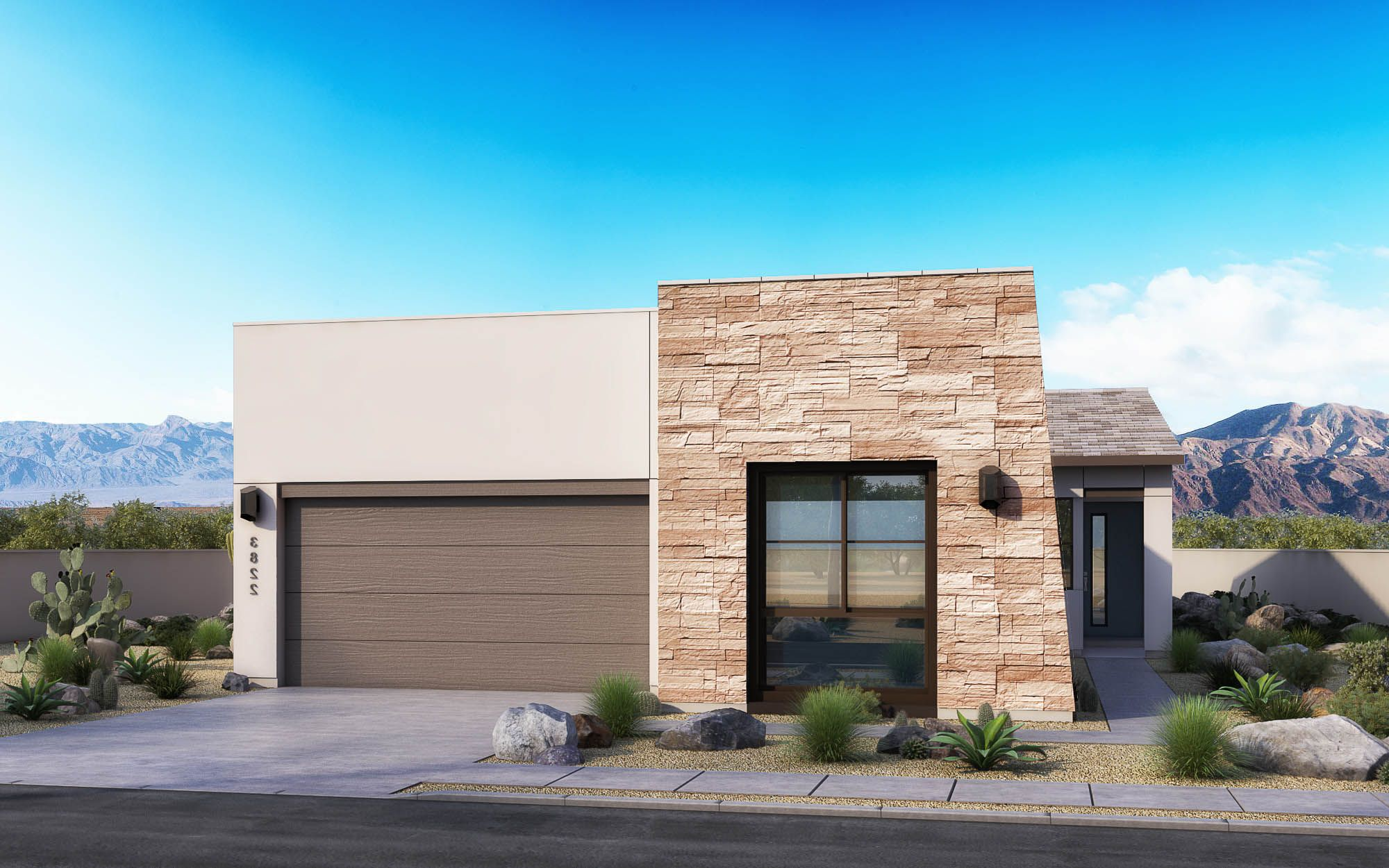 Exterior featured in the Loma Plan 2 By Maracay Homes in Phoenix-Mesa, AZ