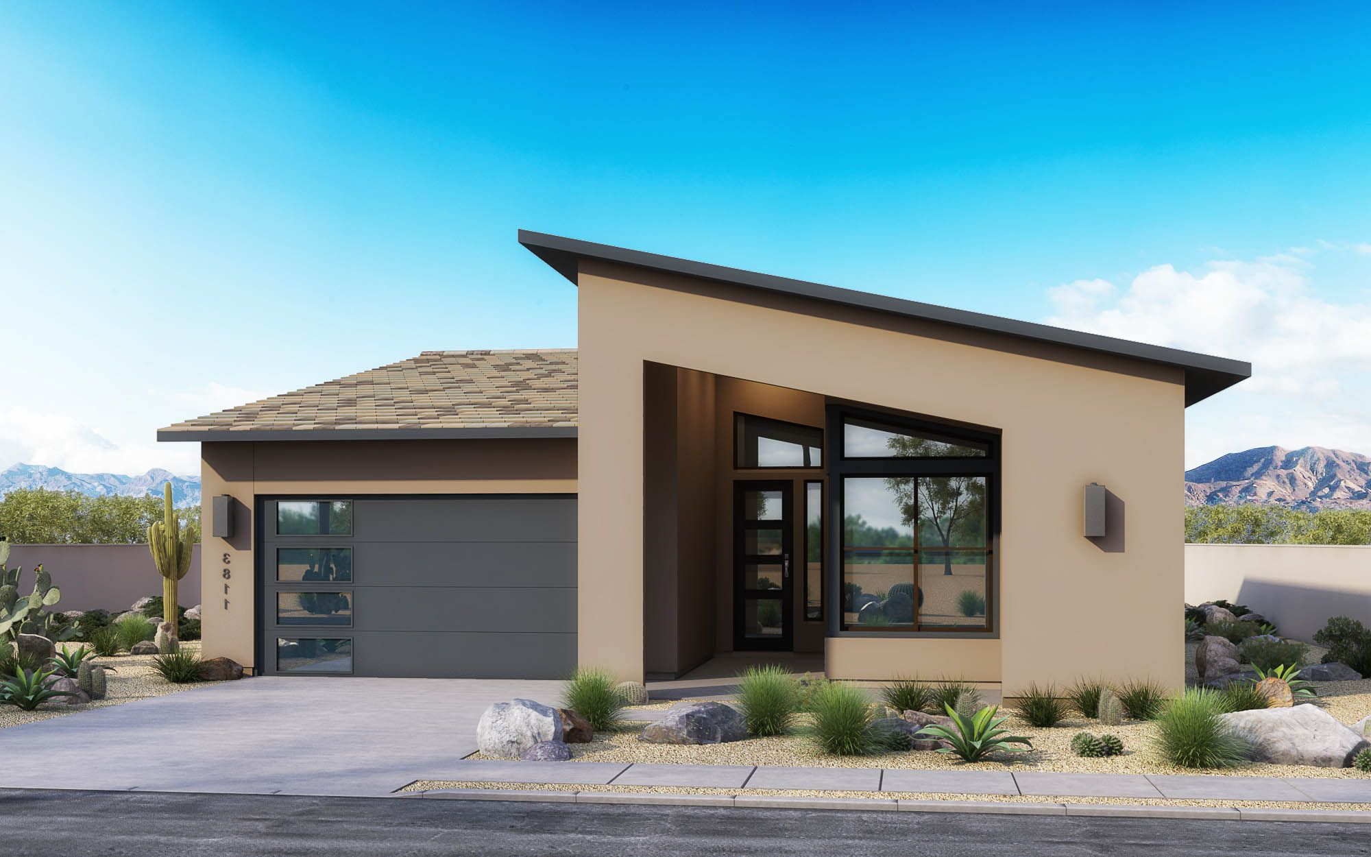 Exterior featured in the Loma Plan 1 By Maracay Homes in Phoenix-Mesa, AZ