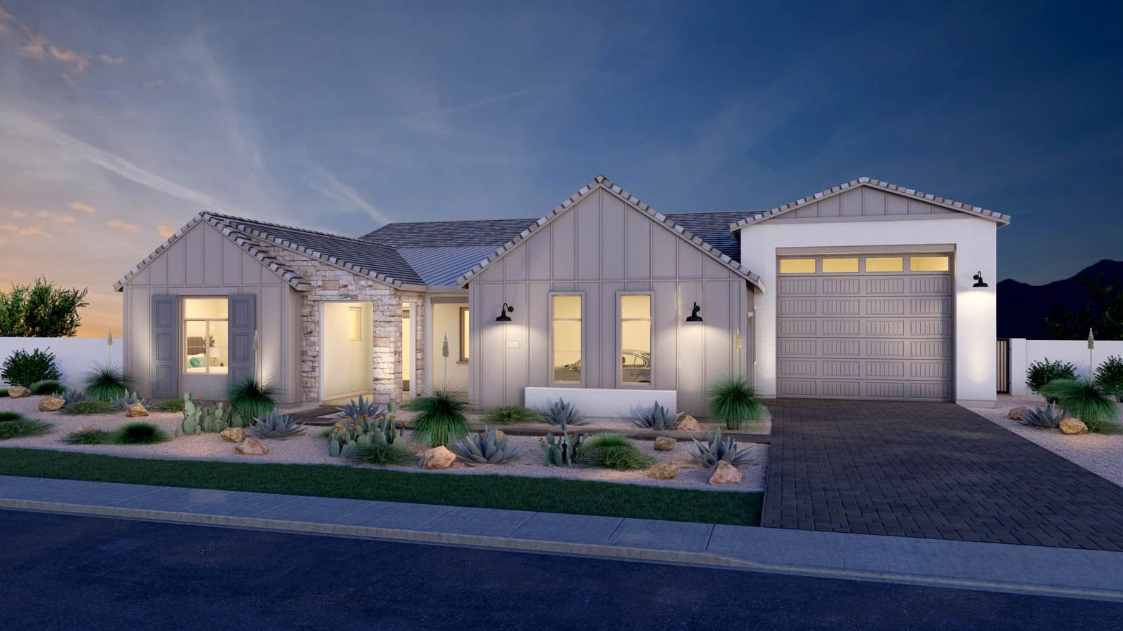 Exterior featured in the Pistache By Maracay Homes in Phoenix-Mesa, AZ
