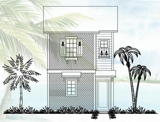 Cottage 1384:Elevation A