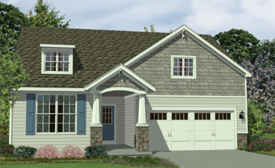 Exterior featured in the Garrison By Marini Homes in Albany-Saratoga, NY