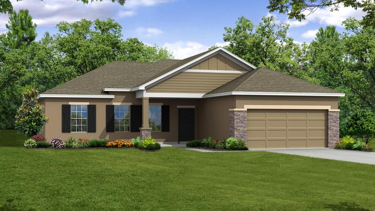 Exterior:Elevation: K Opt Stone Accent