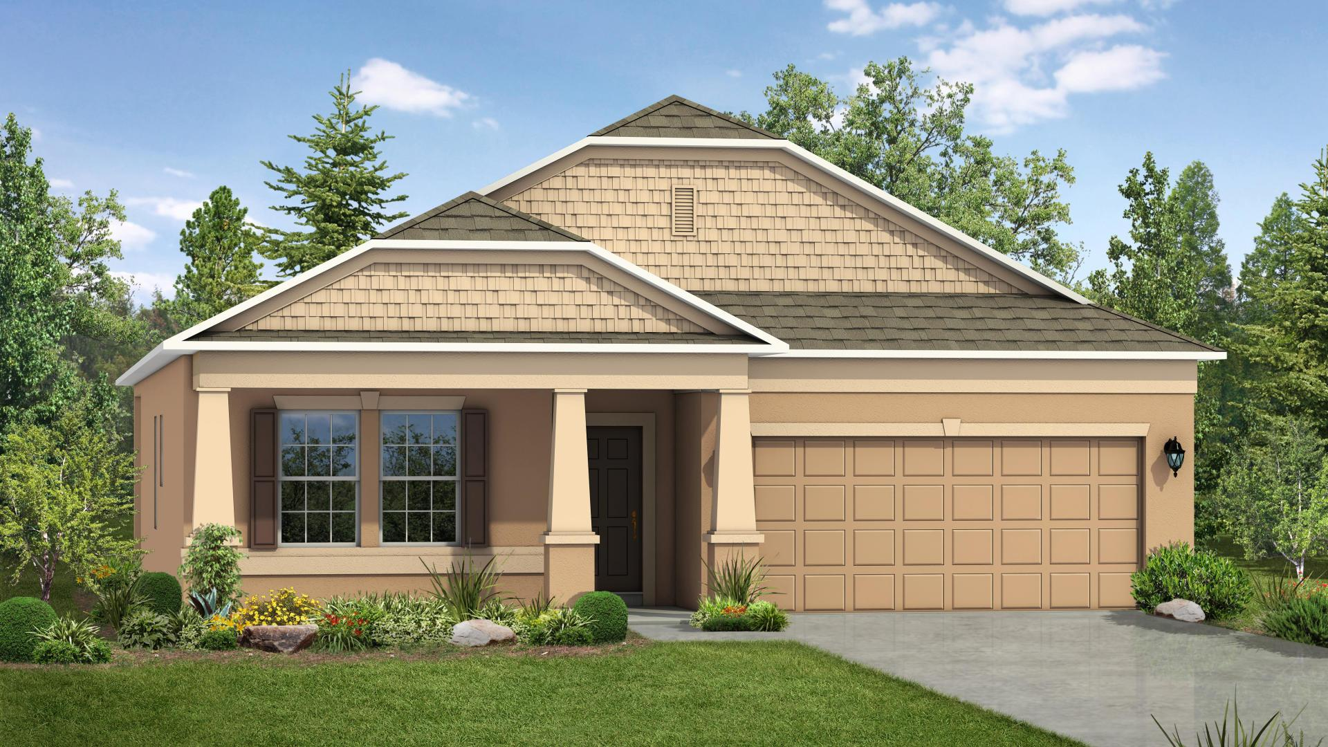 Exterior featured in the Hampton By Maronda Homes in Martin-St. Lucie-Okeechobee Counties, FL