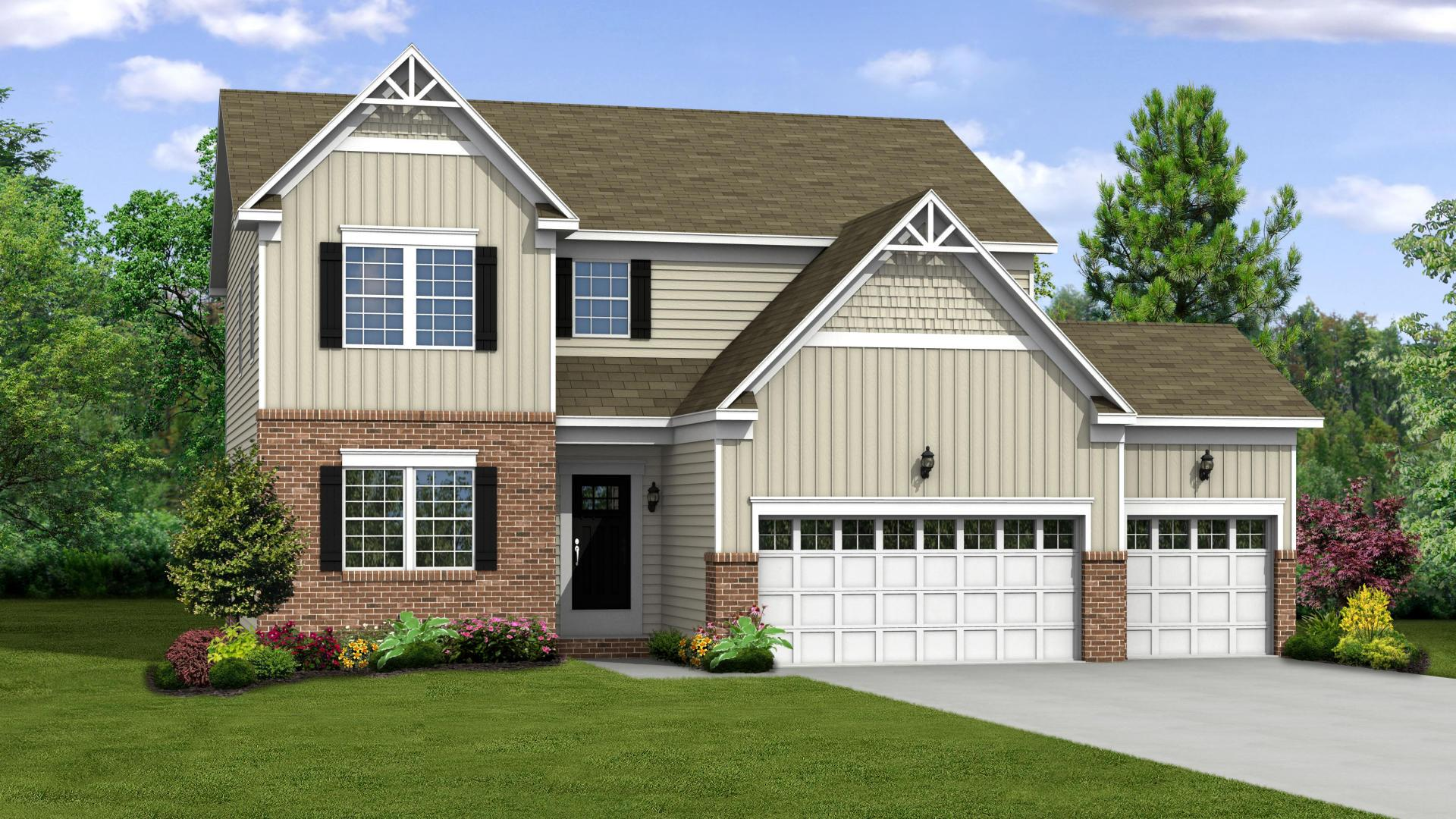Exterior featured in the Newbury By Maronda Homes in Pittsburgh, PA