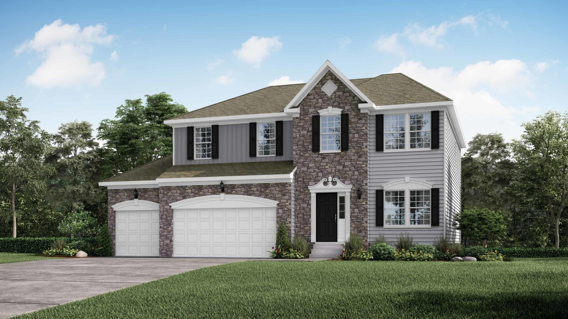 Exterior featured in the Hoover By Maronda Homes in Pittsburgh, PA