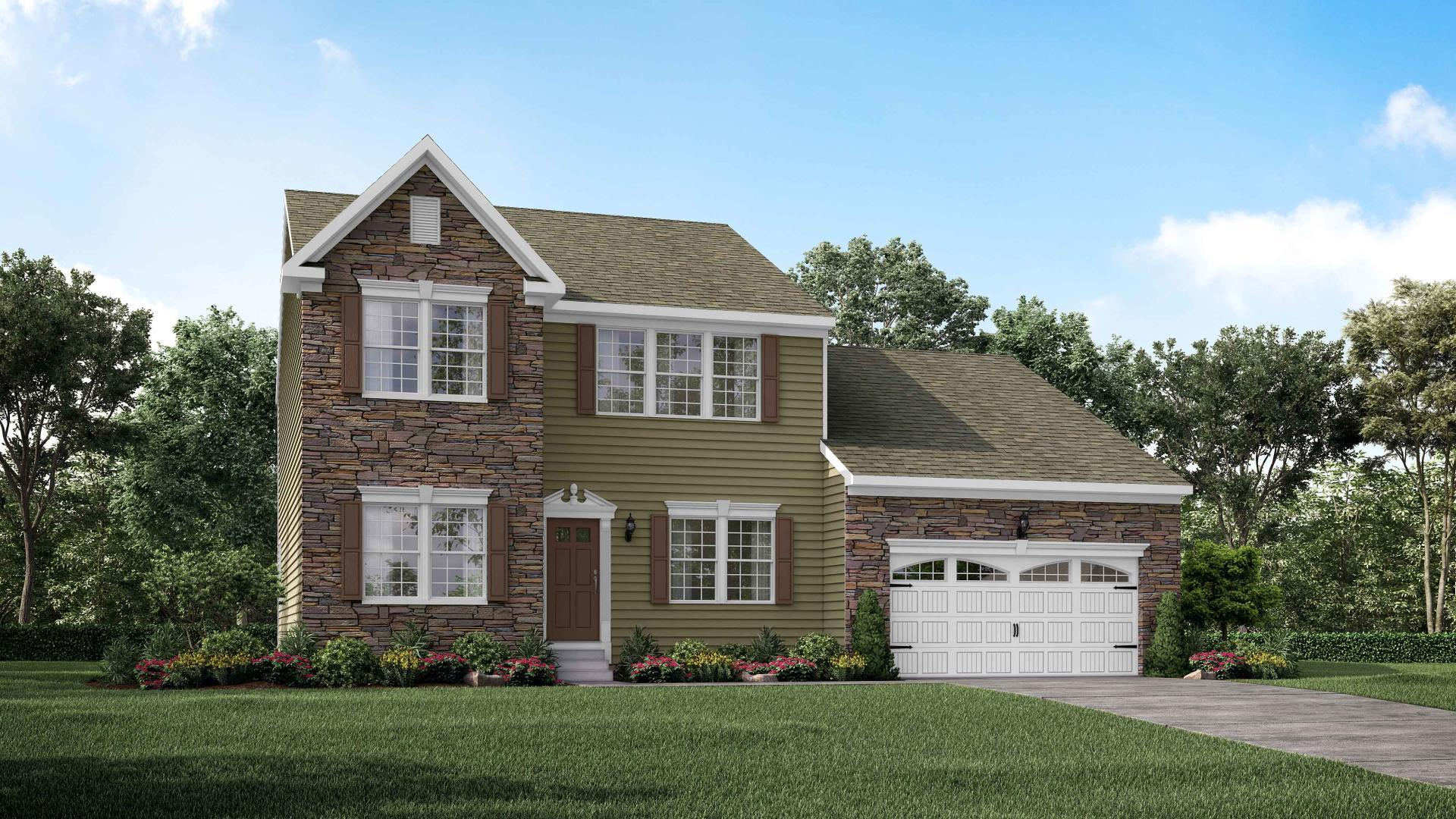 Exterior featured in the Madison By Maronda Homes in Pittsburgh, PA